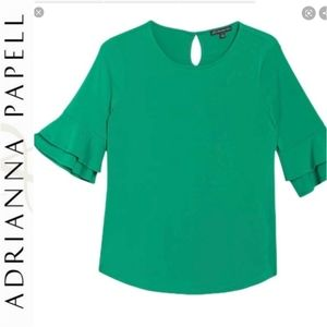 Adrianna Papell Double Bell Cuff Sleeve Top SZ Med